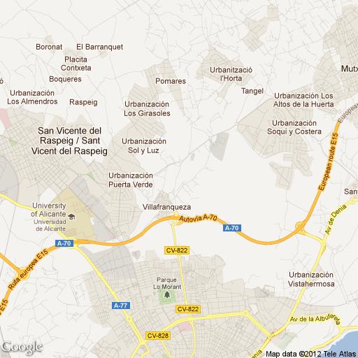 VILLAFRANQUEZA mapa
