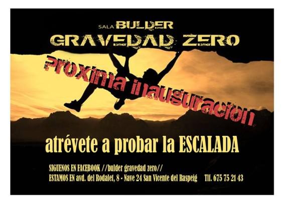 Bulder Gravedad Zero